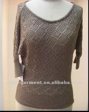 2012 New middle-length sleeves knitted pullover
