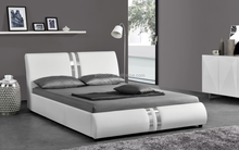 Silver line Design King Size White PU Leather Bed 1143