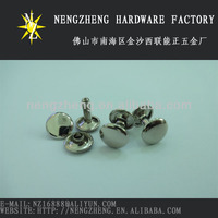 Nickle Double Flat Head Rivets Garment Hardware Accessories
