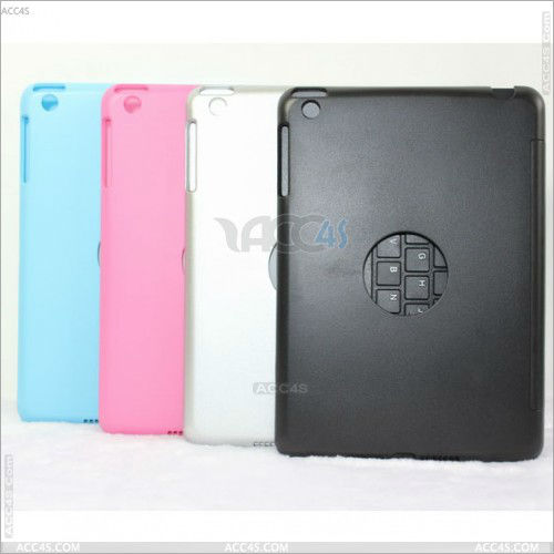 Aluminum bluetooth keyboard for ipad mini with back cover case P-iPDMINIBTHKB014