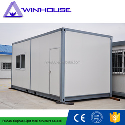 Low cost sandwich panel recycling containers house