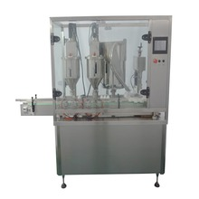 high quality new automatic bottle vials powder linear double head filling capping machine