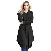 latest fashion tunic tops designs long sleeve maxi muslim dress