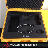 waterproof black plastic tool box/gun box/heavy duty tool box for Camera,shooting things ( SQ5124)