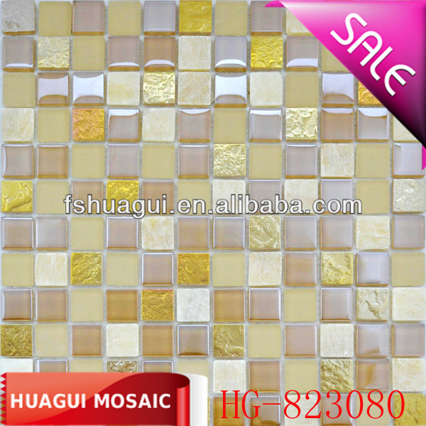 glitter wavy crystal glass mosaic tile for restaurant decoration