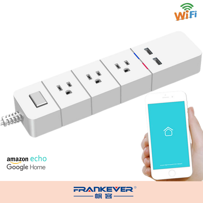 Frankever 3 Wireless Power Extension Socket Smart WiFi Power strip