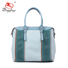 FJ35-080 Alibaba UK style fashion baby blue handbag lady bag top zipper bags