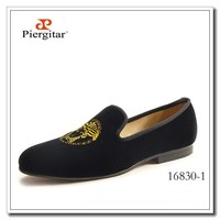 Medusa Brandy Shoes Men Black Velvet
