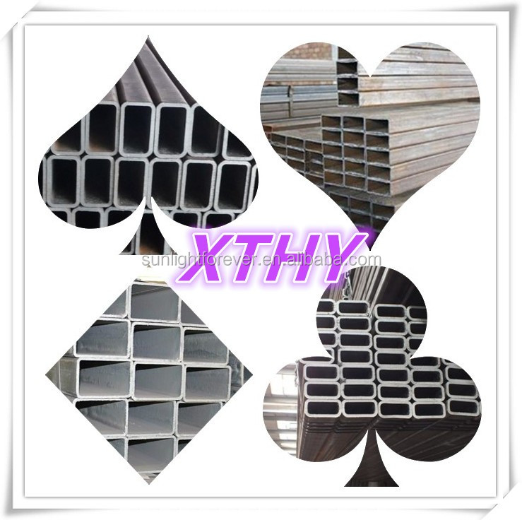 ASTM A500 HDG CONSTRUCTION PIPE , GALVANIZED STEEL TUBE FROM CHINA / HIGH QUALITY HOLLOW SECTION & THE LOW PRICE OF SQUARE TUBE