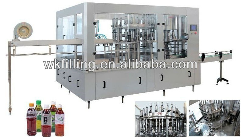 Small Capactiy Glass Bottle Water / Juice / Beer Filling Machine