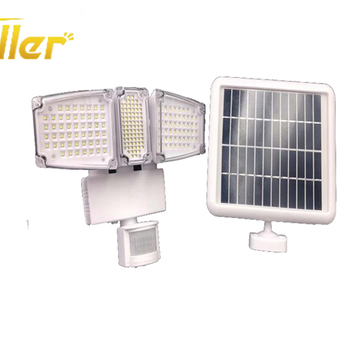 2018 super bright wireless outood garden motion sensor solar floodlight