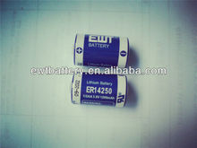 ER14250 1/2AA size 3.6V 1200mAh for Real time clock,
