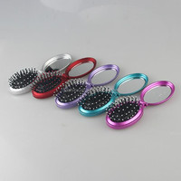 Yashi Hotel disposable folding hairbrush cheap hairbrush for travel use and travel kit use comb