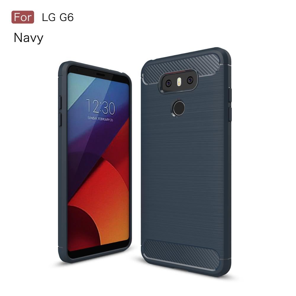 TPU carbon fiber mobile phone case for lg g6,back cover for lg g6