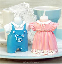new kids birthday candle christening baptism return door gift baby shower favor pink blue baby dress candle