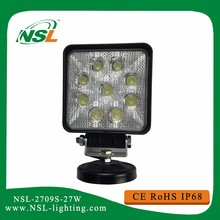 27w LED work light round square 12v 24V for trucks vehicles working light