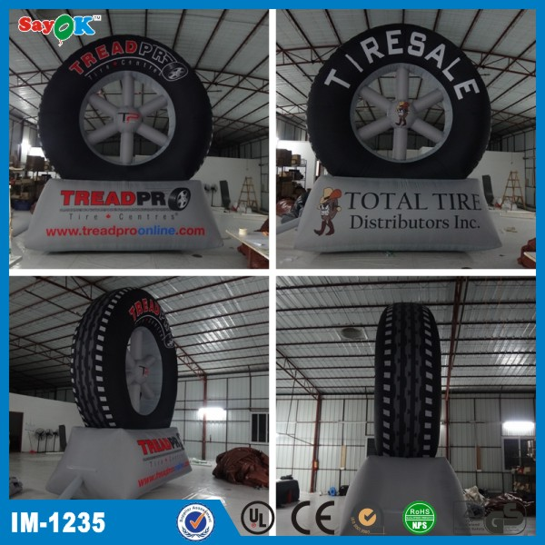 Advertising inflatable tyre model/inflatable tire for sale