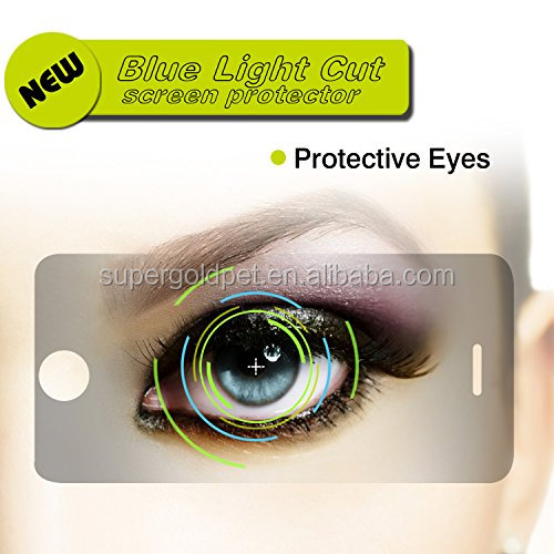 Best quality of anti blue light PET film/screen protector, protect your eye