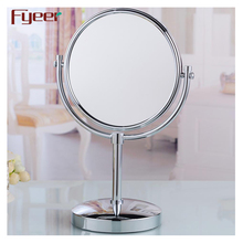 Fyeer brass chrome plated double sided magnifying stand up table mirrors (1X-3X)