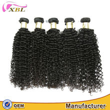 Hot selling virgin Chinese 20 inch kinky curly hair weave extension