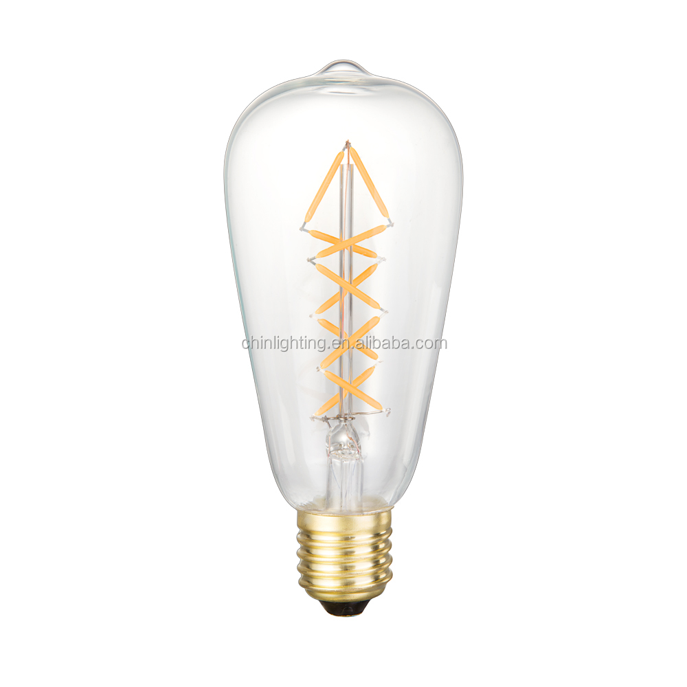 Vintage edison led Light Bulbs ST64 <strong>e27</strong> replace incandescent bulb 60w LED filament Bulb