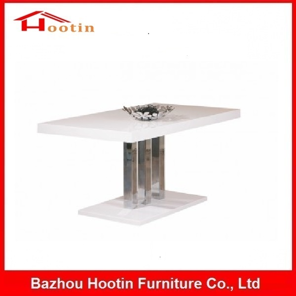 White MDF High Glossy Latest Designs Of Dining Tables For Sale