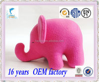 Promotional cheap cute soft stuffed plush custom pink elephant toys for kids
