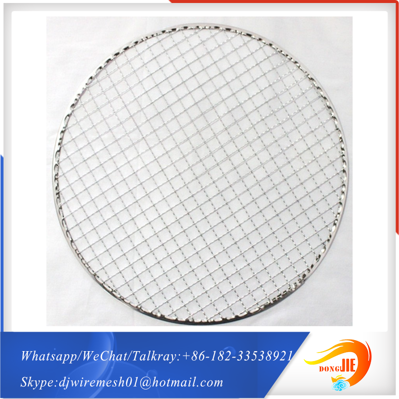 good market BBQ grates wire mesh stainless steel grill metal crimped <strong>netting</strong>
