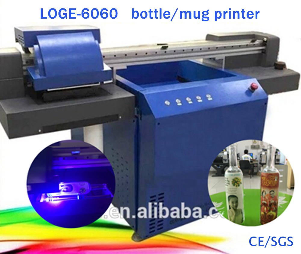 SLJET hot selling glass bottle cup uv flatbed inkjet printer printing machine