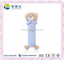 New Cute Bear hand bell baby rattle toys stuffed animal plush toy