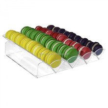 4 tiers clear transparent acrylic macaron display trays