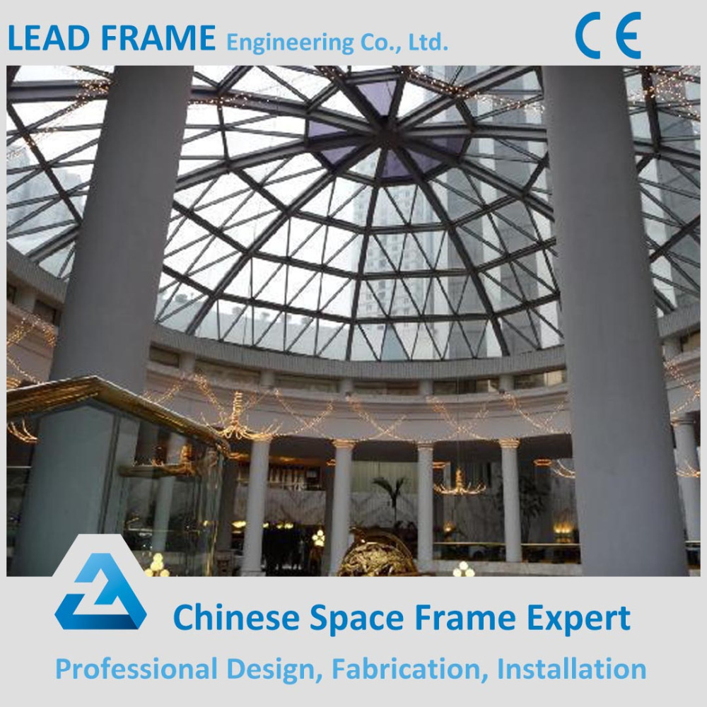Prefabricated steel structure building sky dome
