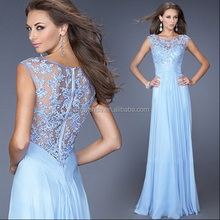 2015 cheap price Very Sexy Lace blue colors Wedding night Dress