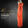 2016 Most Beautiful Orange Red Floor Length Gradient Color Prom Dress