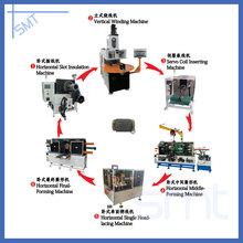 Miniature motorcycle motor stator production assembly line