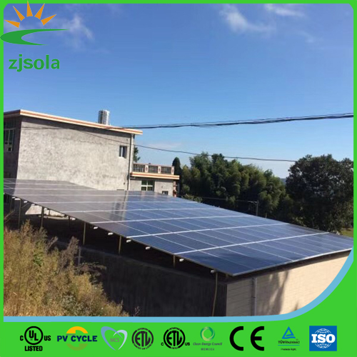 ZJSOLA easy installation on grid 5kw solar power system home with 250w solar panels