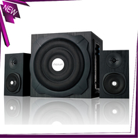 60W Output Power(RMS) Subwoofer 2.1 Woofer MDF Wooden Case Home Theater Speaker System