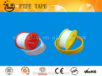 red and yellow ptfe thread seal tape