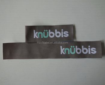2016 Custom high quality center fold high definition Woven Label clothing labels