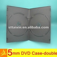 black 5mm double pp cd dvd box