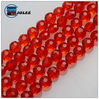 Crystal Strands Faceted Beads 6mm red color wholesale beads yiwu supplier new design jewelry beads