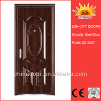 SC-S007 Safety front iron door design with grill