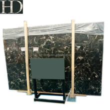 Best Price Black Absolute Marble Guangxi Black Rose Marble Slab with White Veins