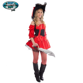 Costumes Women's Eye Candy Spanish Pirate Adult Women's Vixen Pirate Wench Costume