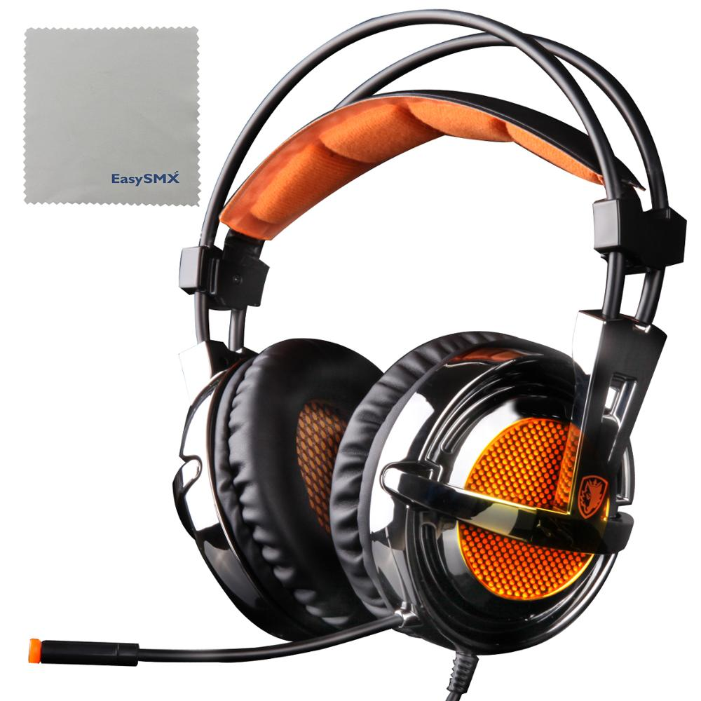 Stereo Gaming Headset with Mic Noise Cancelling Ultra Lightweight and Comfortable for Xbox 360 PS3 PS4 PC