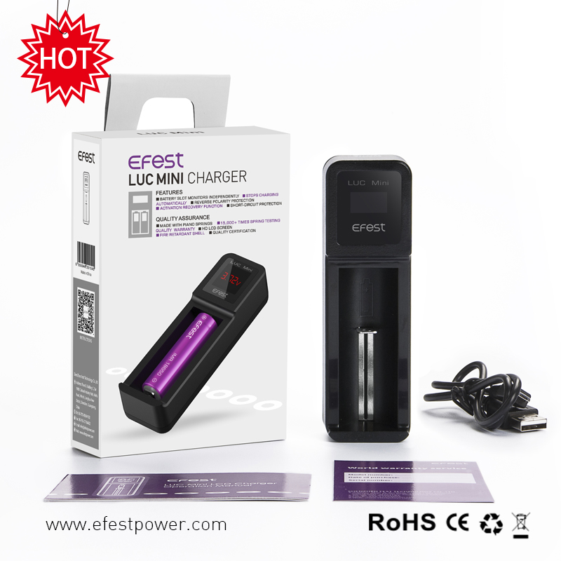 Support 7 Days Refund Efest 1 Bay Lcd Vape Battery Charger