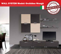 MADE IN ITALY Living Room Cabinet - Wall System easy to Install High Class Fashion Style 2 color