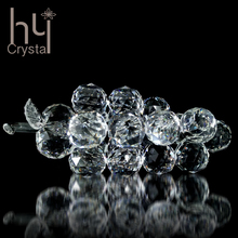 Crystal grape handmade crafts factory hotsale manufacture high quality home party banquet hotel wedding decoration guests gift
