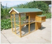 large running wooden poultry house hen house