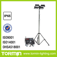 Remote control portable light tower use gas generator All-dimentional remote control light tower